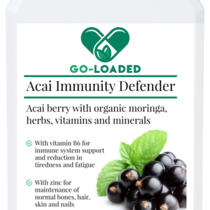 front view of acai immunity defender bottle