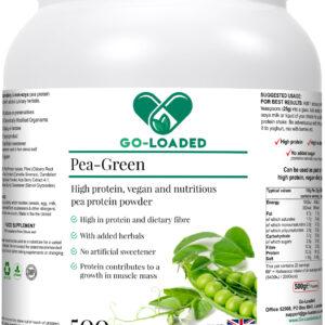 pea green front label bottle
