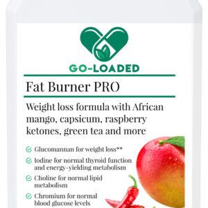 fat burner pro front bottle label